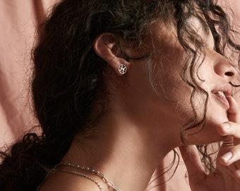 Pisces zodiac stud earrings, sterling silver, personalised, astrology earrings, horoscope earrings