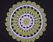 Salad white crochet doily-medium doily-Home decor-white crochet doilies-light green doily-salad crochet doily -Handmade tablecloth