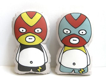 Mexican Wrestling Rag Doll, Rag Doll, Plush Doll, Stuffed Doll, Fighter, Wrestling, Lucha Libre, Mexico