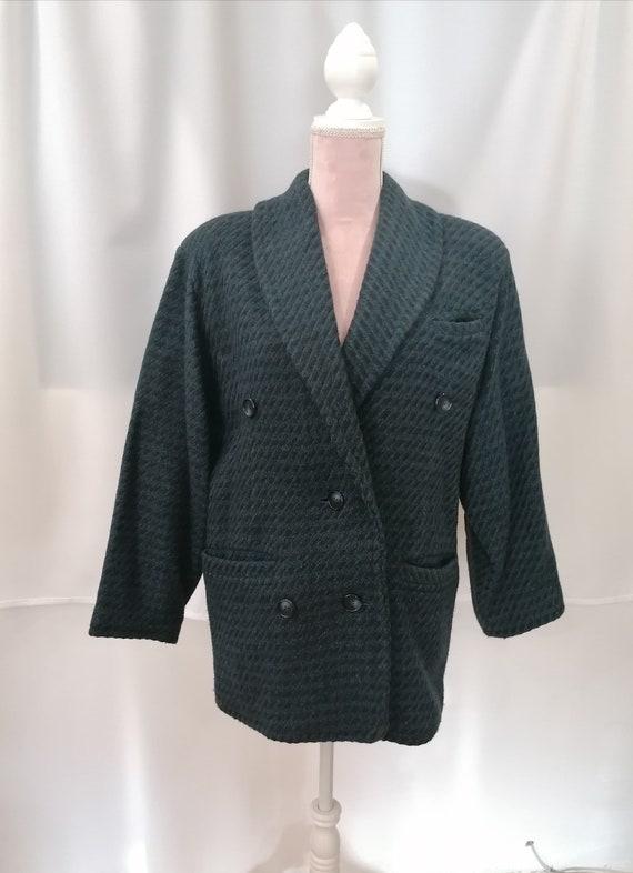 vintage women wool blazer, retro women blazer