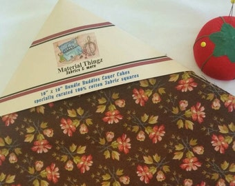 """Specially Curated Layer Cake Bundle for Quilting, Crafting, Sewing 7 Different Fabrics 4 of each 10""""x10"""" Squares with Free Shipping"""