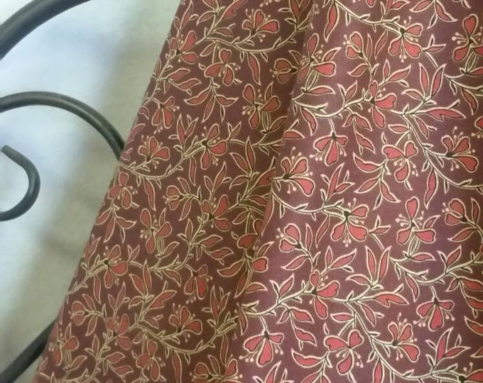 Andover Franklin by Kathy Hall is a Quilting, Crafting, Sewing 100 Percent Cotton Fabric in a Burgandy Floral with Free Shipping By the Yard