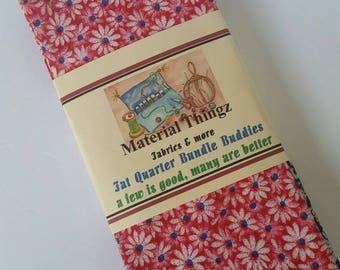 Free Shipping 8 Fat Quarter Bundle Buddies 100 Percent Cotton Daisies Sewing, Crafting, Quilting Fabric