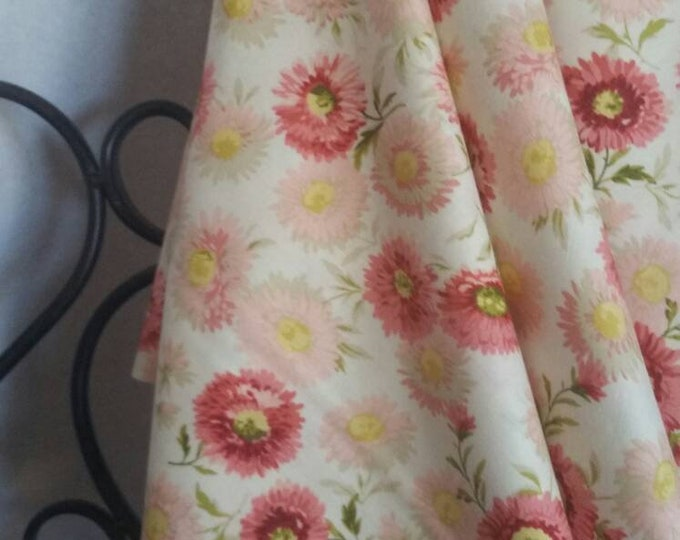 Andover Sequoia 100 Percent Cotton Fabric for Crafting, Quilting, Sewing in Medium Pink and Burgandy Flowers with Free Shipping
