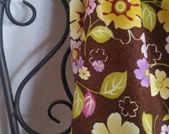 Henry Glass and Co. Soiree Fabric Flowers on a Brown Background 100 Percent Cotton Fabric for Quilting, Crafting, and Sewing Free Shipping