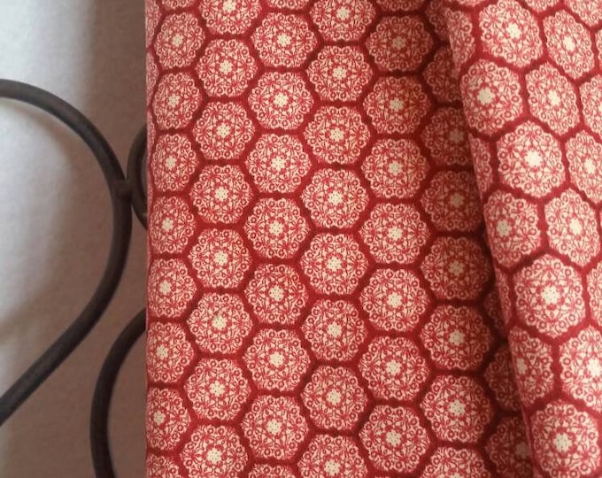 VIP Homespun Holidays Fabric in Various Shades of Red and Rose 100 Percent Cotton for Quilting, Crafting, Sewing Free Shipping By the Yard