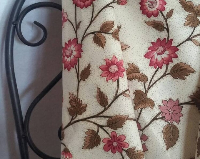 Andover Windermere by Di Ford-Hall Rose Colored Floral Soft 100 Percent Cotton Fabric for Quilting, Crafting, and Sewing Free Shipping