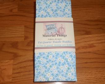 Free Shipping 8 Fat Quarter Bundle Buddies Blue  100% Cotton, Quilting, Sewing Fabric