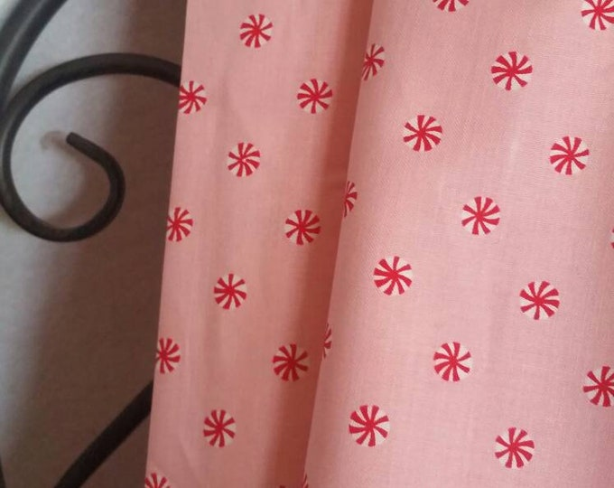 Michael Miller Fabrics Mini Mints Christmas in Dark Pink on Pink Background 100 Percent Cotton for Quilting, Crafting, Sewing Free Shipping