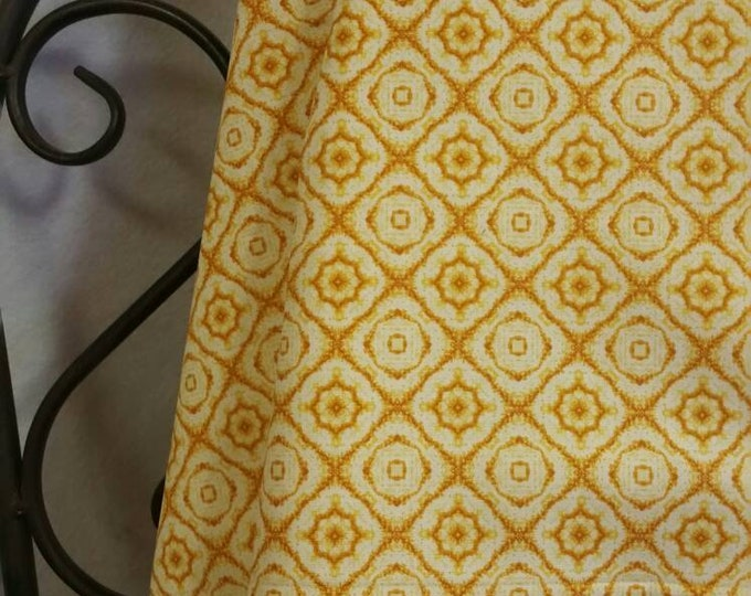 Penny Rose Autumn Hues by Rebecca Baer Light Orange Medallion 100 Percent Cotton for Quilting, Sewing, Crafting Free Shipping by the Yard