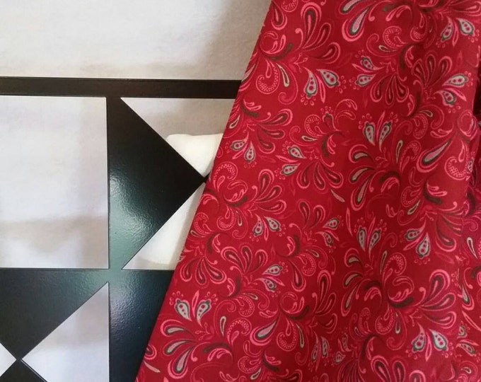Dark Red By the Yard Quilting Fabric