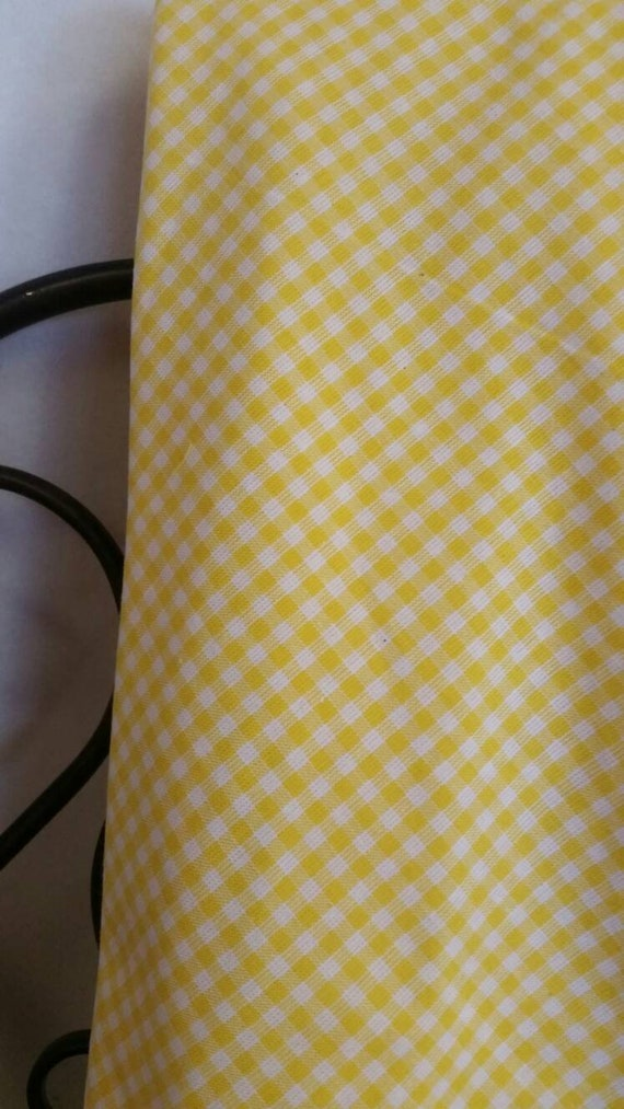"MDG 1/8"" Squares Yellow and White Gingham Check Fabric 100 Percent Cotton, Free Shipping, Quilting, Crafting Home Decor Fabric"