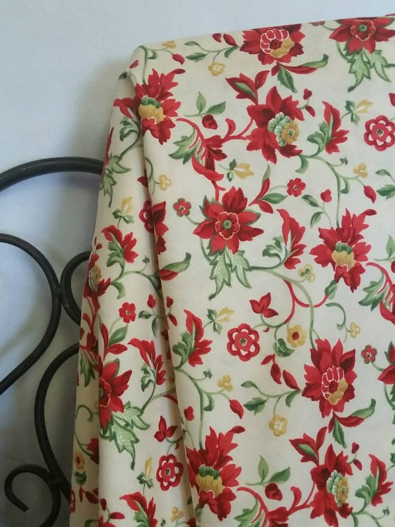 Free Shipping Quilting Fabric, 100 Percent Cotton, Crimson & Holly by Wilmington Prints Crafting Fabric