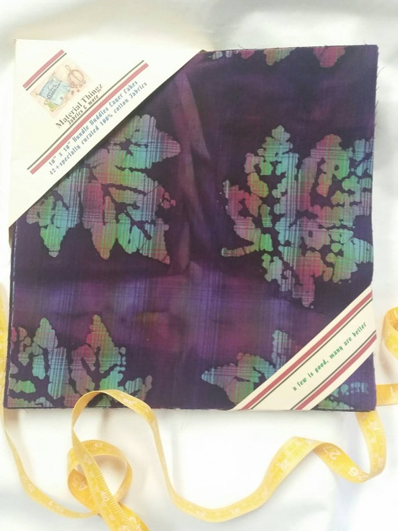 MDG Vibrant Dyed Batik Layer Cake Collection with a total of 45 Cotton 10x10 Squares Precision Razor Cut Quilters' Fabric Free Shipping