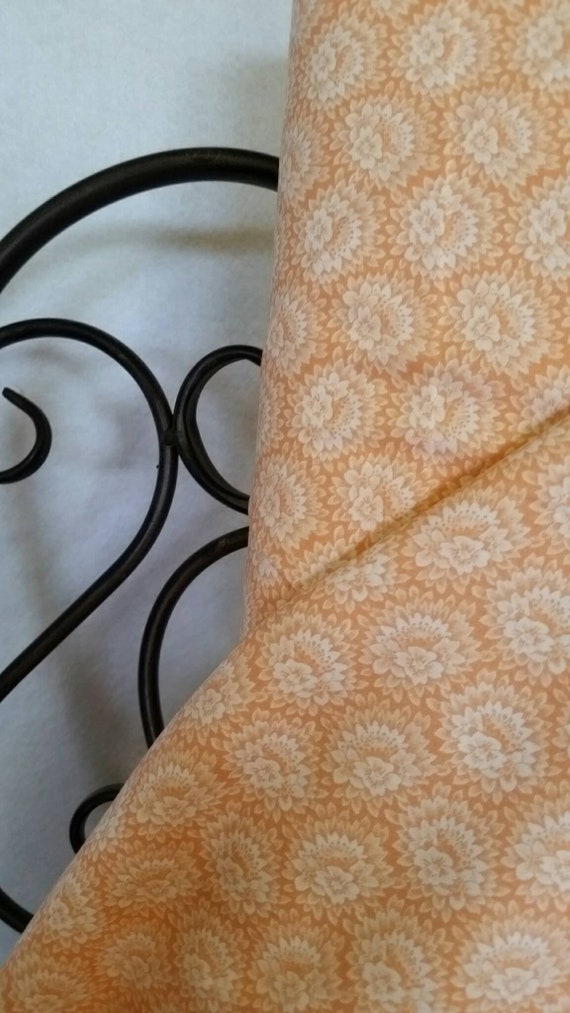 Free Shipping Quilting Fabric, 100 Percent Cotton MDG Orange Flowers