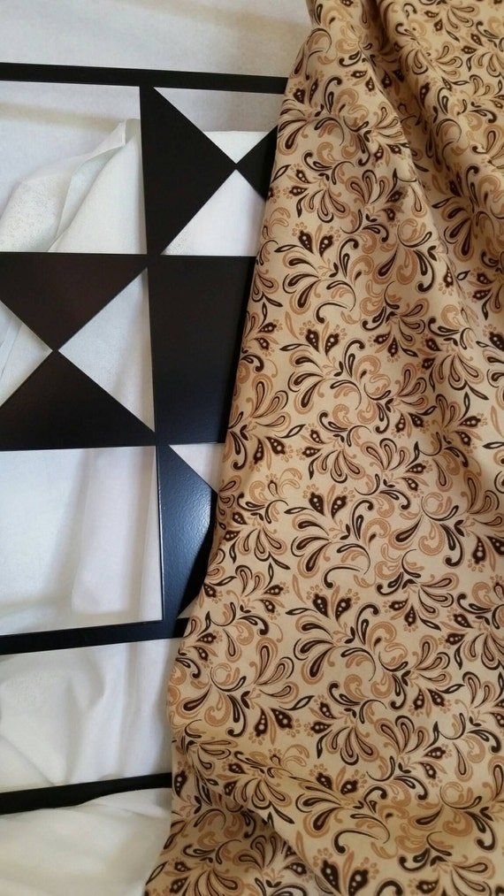 Free Shipping Quilting Fabric, 100 Percent Cotton By the Yard Light Brown Background Quilting Fabric