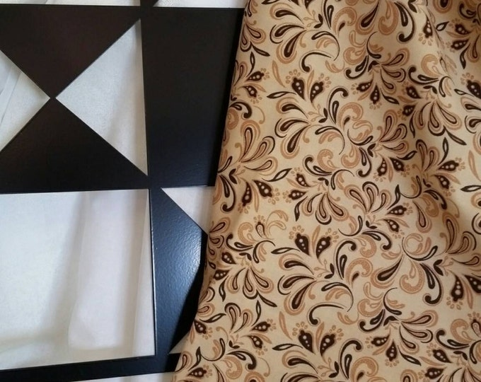 By the Yard Light Brown Background Quilting Fabric