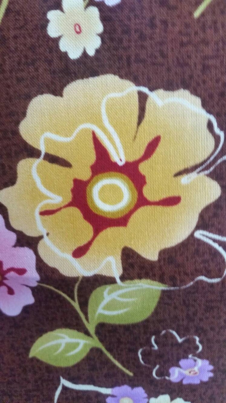 Soiree Fabric Flowers on a Brown Background 100 Percent Cotton Fabric for Quilting Henry Glass and Co Crafting and Sewing Free Shipping
