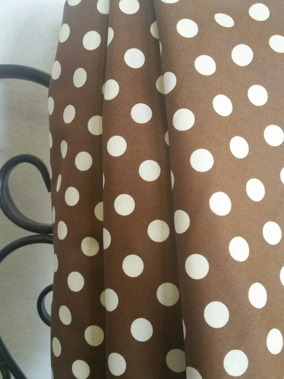 Windham Fabrics Teddy Bear Basics Tan Dots on a Brown Background Fabric for Quilting, Crafting, Sewing Free Shipping 100 Percent Cotton