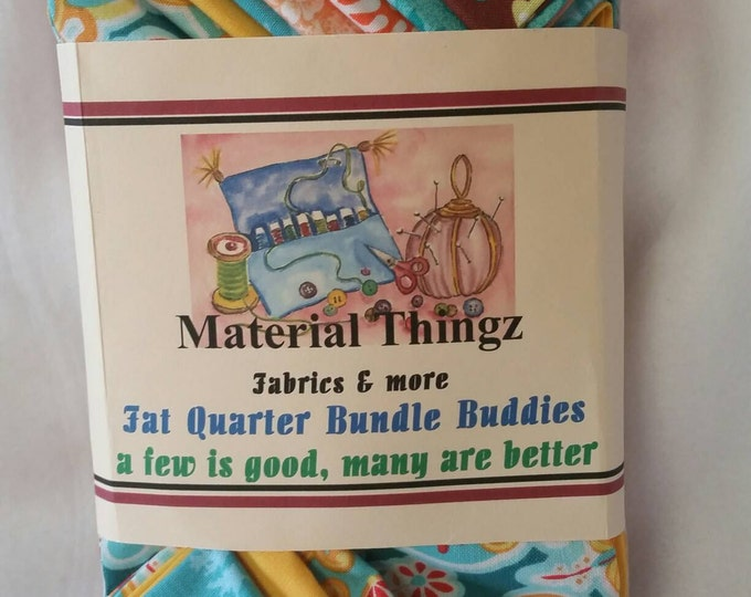 100% Cotton Quilting Bundle Buddies Fat Quarter Grouping