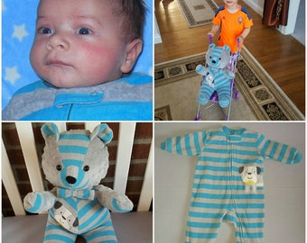 Christmas present,Memory Bear, Remembrance Gift, Keepsake Stuffed Bear, Memorial Bear, Made From Loved Ones Clothing, Loss of Loved One