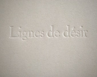 """Artist's book """"Lines of Desire"""" by Delphine Poitevin"""