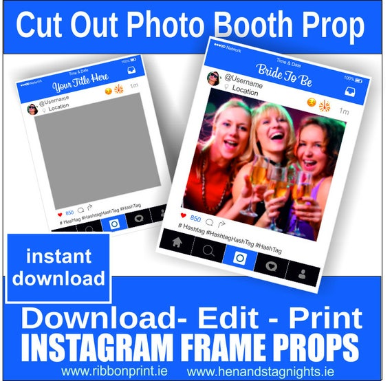 Instagram Frame Editable Download Custom Design Instagram Etsy
