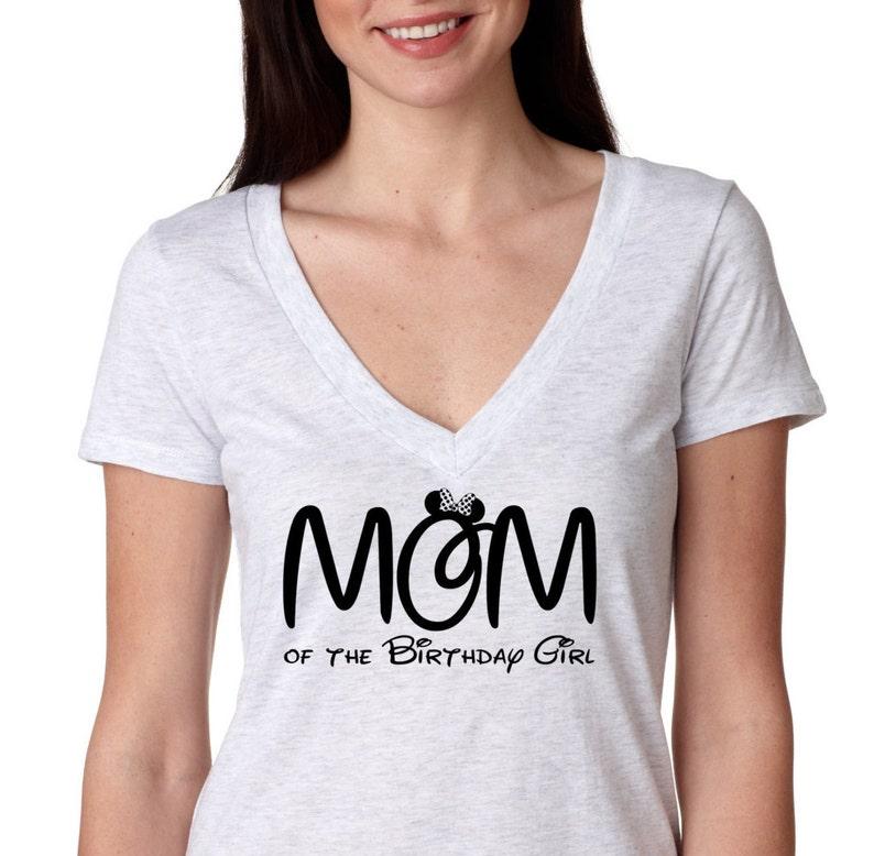 84f4b7ef Minnie Mouse MOM of the Birthday Girl Neck Birthday shirt | Etsy