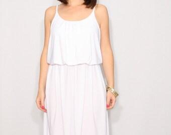 White dress, mini dress, short dress, sundress,  bridesmaid dress