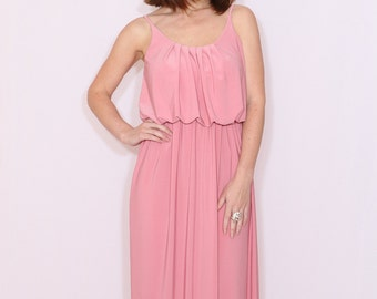 Licht Roze Jurk : Rose pink dress etsy