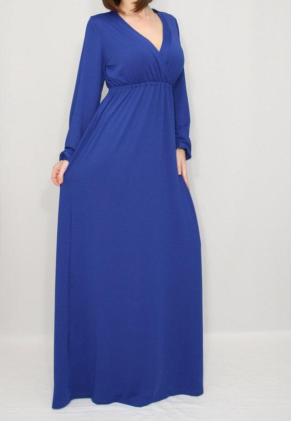 Royal Blue Plus Size Maxi Dresses