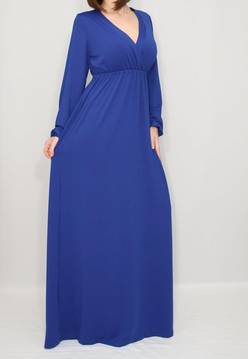 Blue maxi dress Maternity dress Boho dress Plus size dress | Etsy