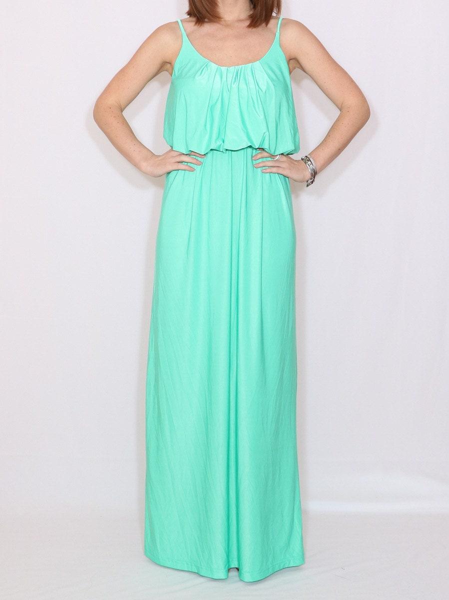 Mint Bridesmaid dress Mint green dress Long mint dress Plus size bridesmaid  dress Customizable dress