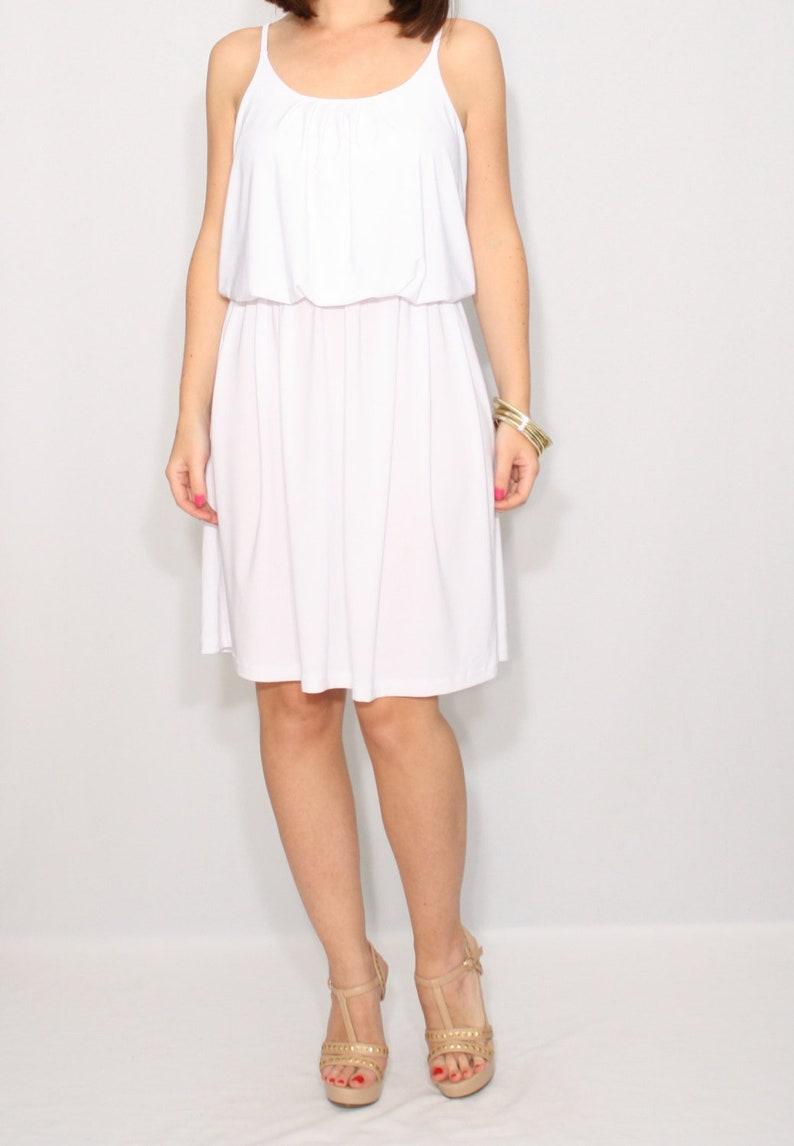 585b934092 White dress mini dress short dress sundress