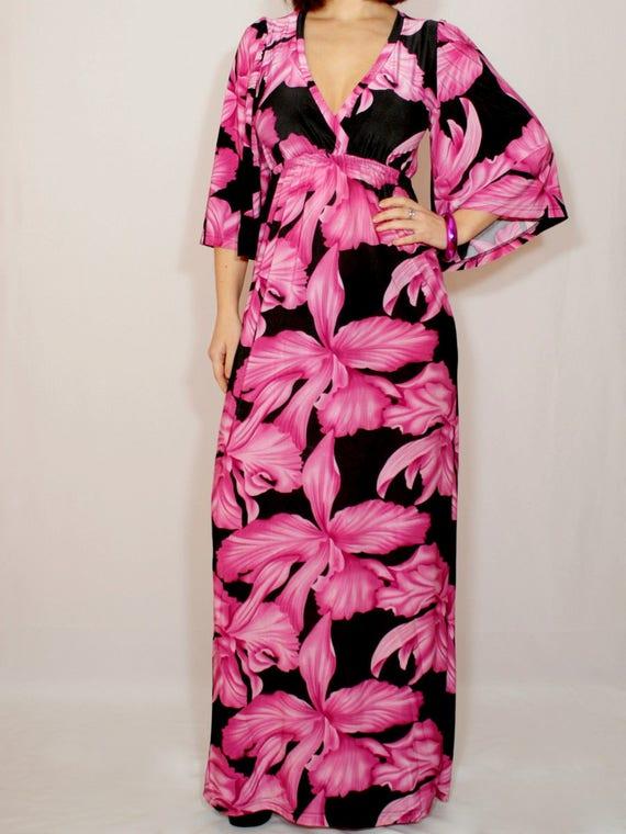 3f92d570bc0 Maxi dress Kimono dress Hawaiian dress Floral maxi dress