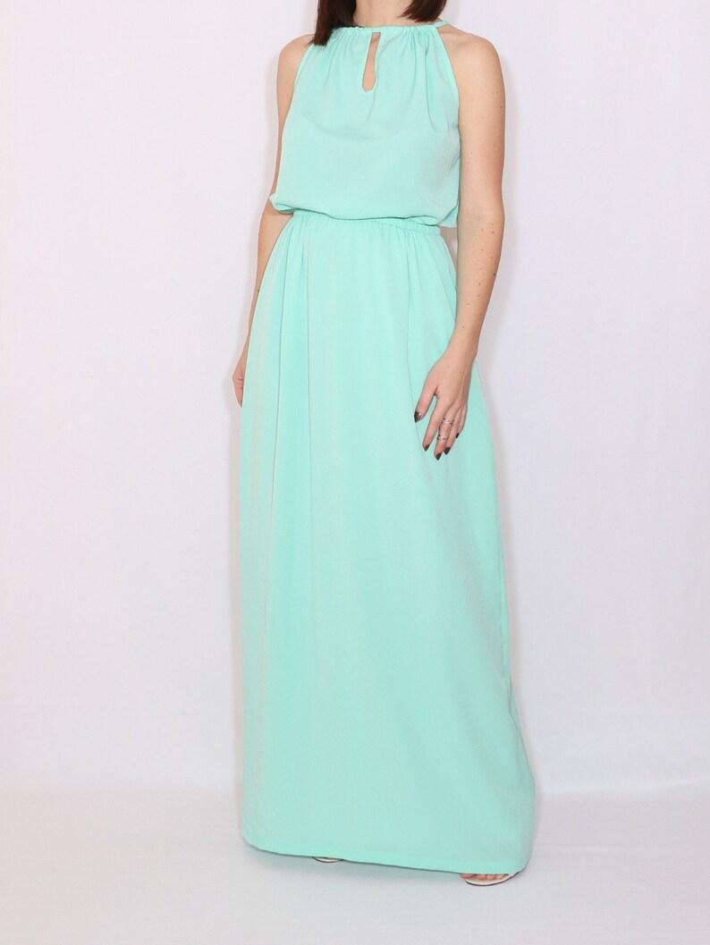 09e92f1488752 Menthe verte robe longue demoiselle dhonneur robe robe de