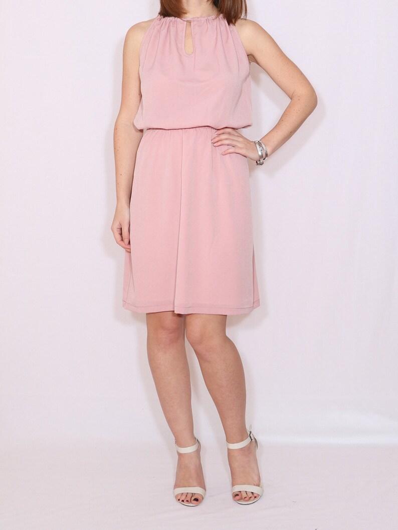 Pink Short Chiffon Dresses