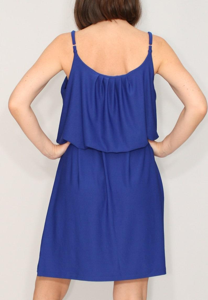 8e43f85e6b9 Cobalt Blue bridesmaid dress short Boho dress Sundress Summer