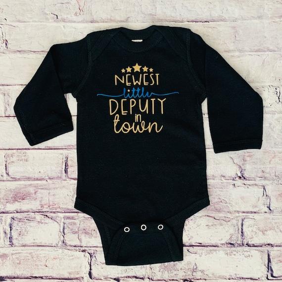 Little Deputy Custom Baby /& Toddler Short Sleeve T-shirt