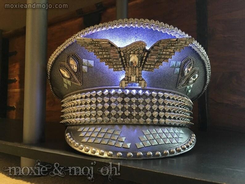 59124f1a Burning Man Men's Large/XL LED hat Military /   Etsy