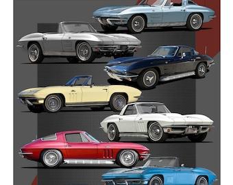 Chevrolet Corvette 2nd Generation Poster
