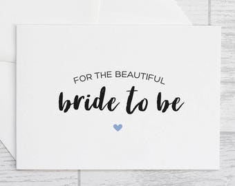 bride to be card for the beautiful bride to be card
