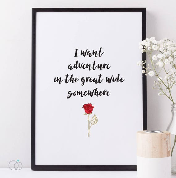 Beauty The Beast Quote Belle Adventure Great Wide Quote Etsy