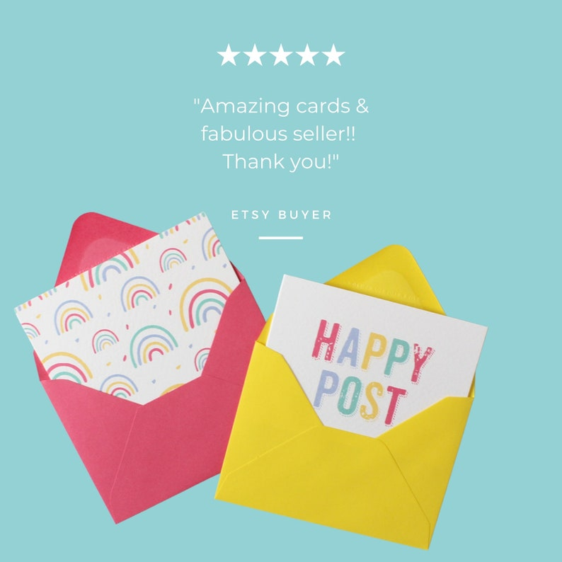 Rainbow Thank You Card Pack