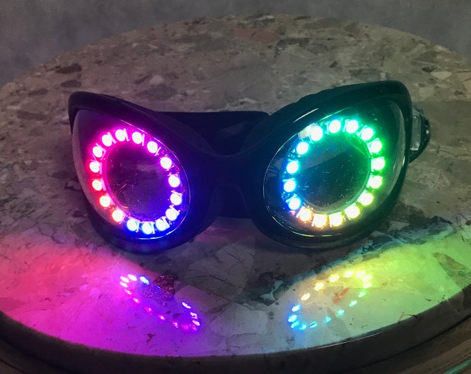 Sale! LED Dust Goggles - Attention Getters & great for Burning Man Dust Storms