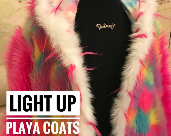 Burning Man Light Up Playa Coats designed by experienced Burners