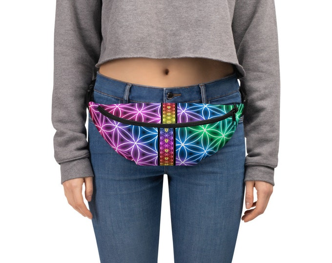 Festival Fanny Pack with Prosperity Flower of Life Print