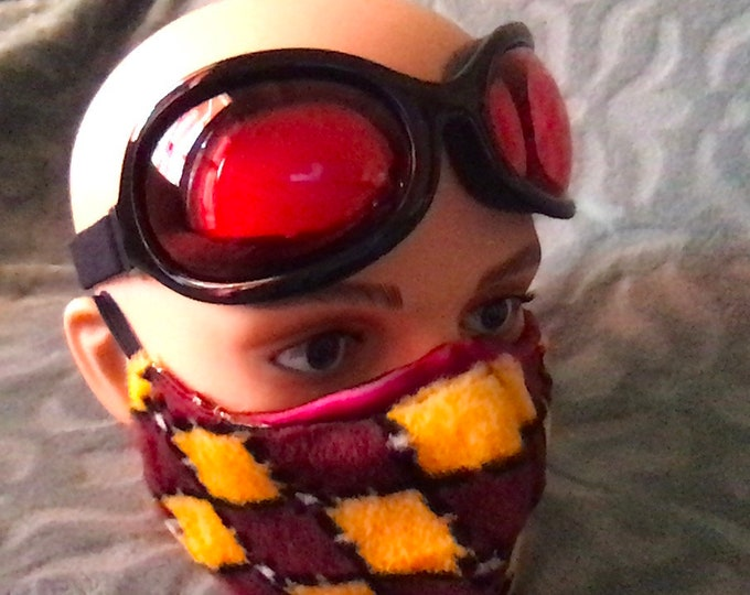 GOGGLES provide full eye coverage with foam seal
