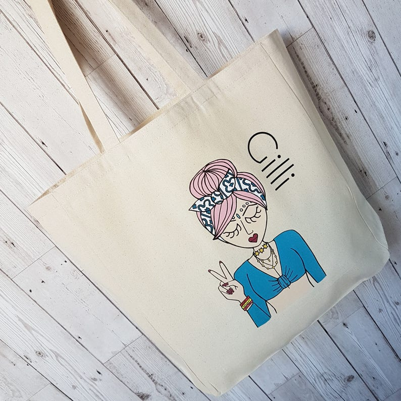 Festival Tote Personalised Tote For Festival Student Gift Birthday Gift Gift for Teen Miss Festival Chic Personalised Tote Bag