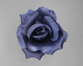 Navy silk flower etsy silk rose heads 12pcs navy artificial flowers mightylinksfo